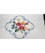 VTG Floral Embroidered Pillowcases - set of 2 flowers foral ROSES - G F ... - $32.66