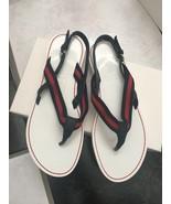 NIB 100% AUTH Gucci Kids Flipflop W/Gucci Signature Stripe Sandals 28523... - $128.00