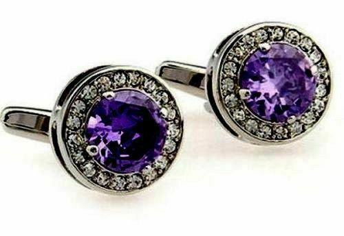 925 Sterling Silver Natural Fine Quality Amethyst And Cz Gemstone Artistic Desig