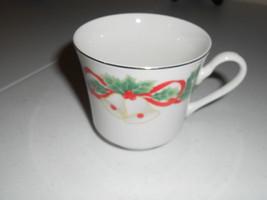 sango noel 1990 8401 cup mug set of 9 xmas Hollies Holly Berries - $18.28