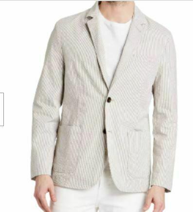 Men's Striped Standard Fit Seersucker Kenwood Blazer - Goodfellow & Co
