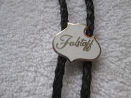Vintage Falstaff bolo tie clasp, brass? non-magnetic - $25.00