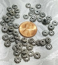 12pcs. Twisted Heishi Spacer Beads - 1.3x6x6mm; Hole 2mm image 2