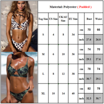 Women's Bikini Set Pushup Padded Floral Swimsuit Bandage Beach Swimwear Summer image 4