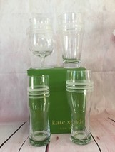 KATE SPADE NIB SET OF 4 ASSORTED BEER GLASSES SET OF 4 LIBRARY STRIPE LENOX - $49.00
