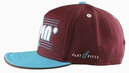Flat Fitty On And Popin Burgundy Carolina Blue SnapBack Baseball Cap Hat NWT image 3
