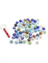 POPLAY 50 PCS Beautiful Player Marbles Bulk For Marble Games,Multiple Co... - $9.08