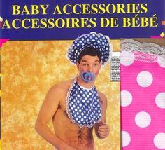 BIG BABY BOY BLUE DISGUISE KIT HAT,BIB,PACIFIER - $12.00