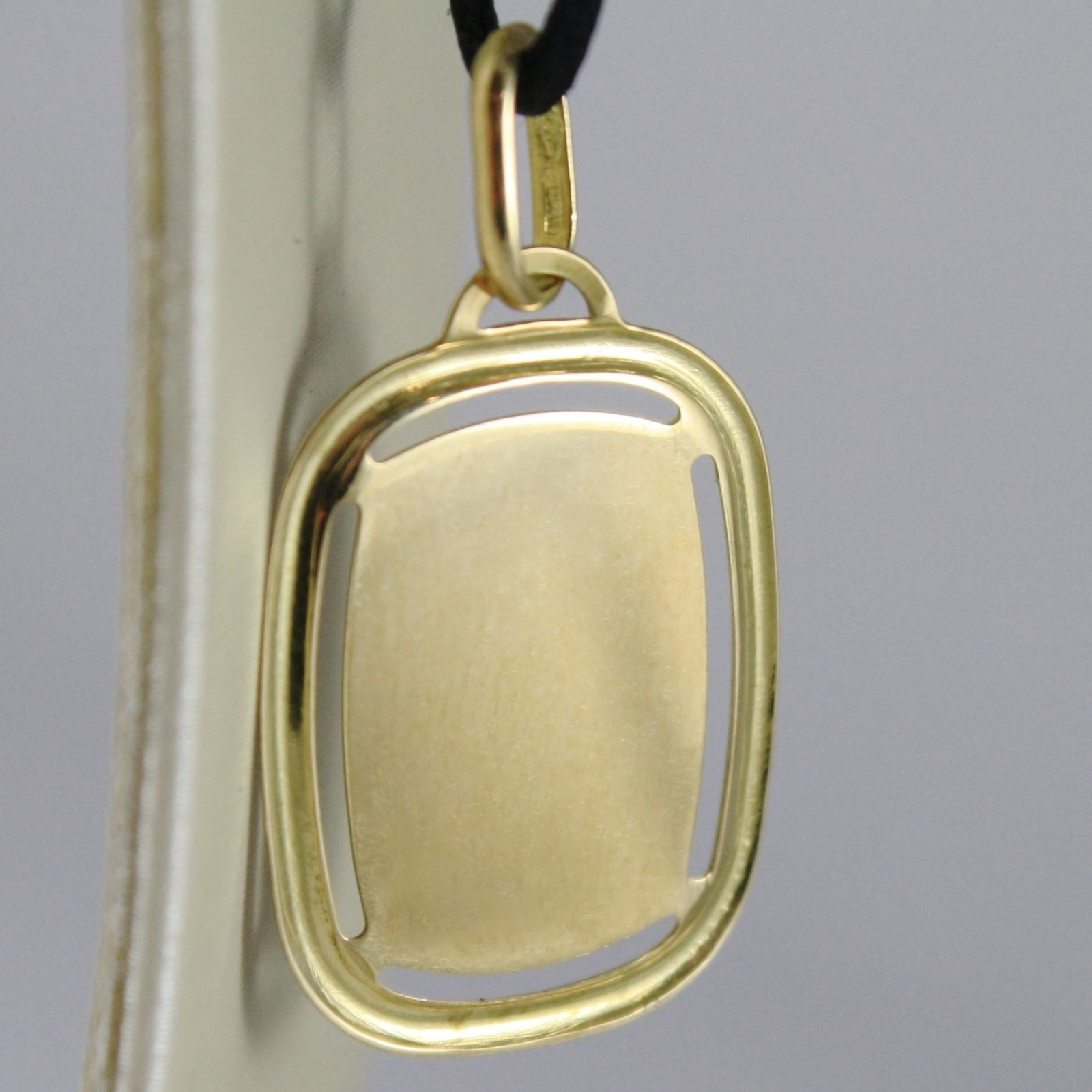 SOLID 18K YELLOW GOLD AQUARIUS ZODIAC SIGN MEDAL PENDANT ZODIACAL MADE IN ITALY