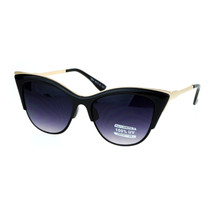 Womens Cateye Sunglasses Double Rim Chic Designer Fashion Shades - $9.95