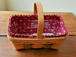 Longaberger Heartland Collection Chore Basket #13404 w/ Liner & Protecto... - $29.70
