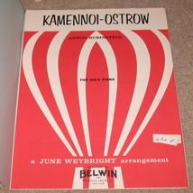 Kamennoi-Ostrow Sheet Music - Rubenstein - 1966    - $7.99