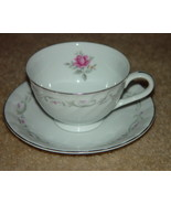 ROYAL SWIRL FINE CHINA JAPAN COFFE CUP AND SAUCER SET PINK ROSE VINTAGE - $19.00