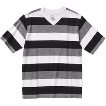 Faded Glory Boys Short Sleeve Rugby V Neck T Shirt Black Soot Size X-LARGE 14-16 - $8.90