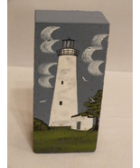 Original Brick Art Painting of Ocracoke Lighthouse, N.C. by Virginia Fer... - $45.99