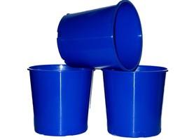 6 Blue Offering Buckets, Ice Buckets Holds 176 Ounces Mfg. USA Lead Free - $713,73 MXN