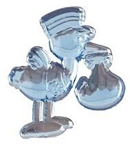 Stork w/Baby Acrylic Charm -Blue - $9.85