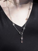 RD-NK-0041 - Hammered Pink Necklace - $22.00