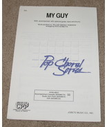My Guy Sheet Music Smokey Robinson Guitar Bass Drums   - $8.55
