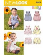 New Look Sewing Pattern 6970 Babies' Romper, Dress and Panties, Size A (... - $6.00