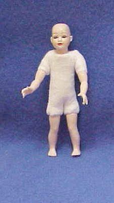 Child Doll Undressed Heidi Ott Dollhouse no wig cloth Blue