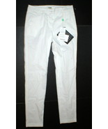 New Womens Designer Hache Pants Italy 40 4 Skinny Cigarette Work White N... - $475.75