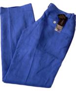 NWT RALPH LAUREN Polo womens blue Linen pants d... - $54.99