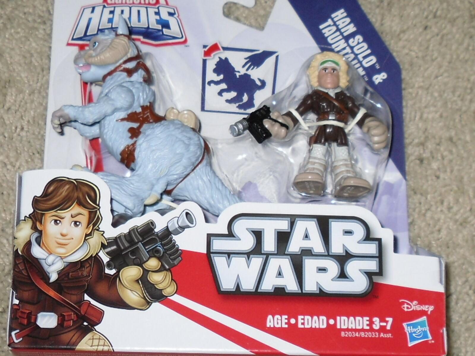 "Galactic Heroes Star Wars Collector Series /""Han Solo /& Tauntaun/"" NEW!"