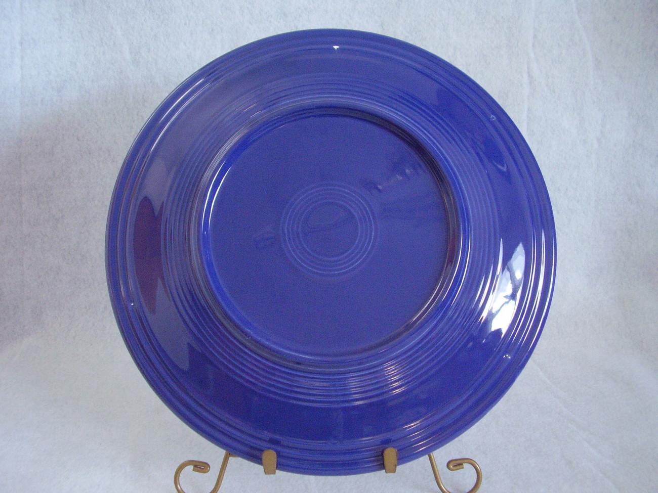 Vintage Fiestaware Cobalt Chop Plate Fiesta  A