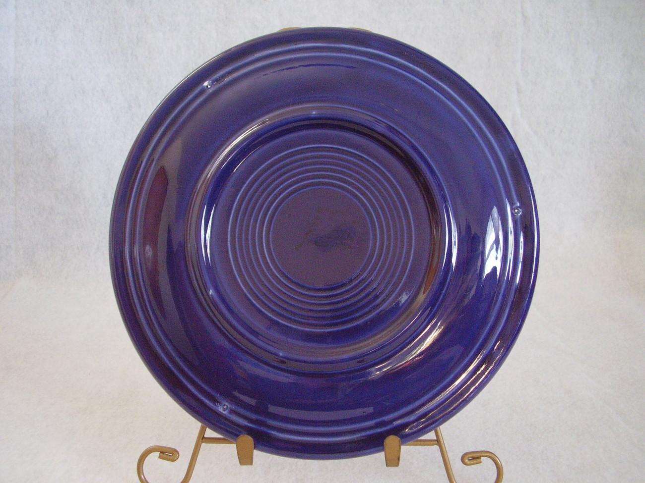 Vintage Fiestaware Cobalt Lunch Plate Fiesta  G