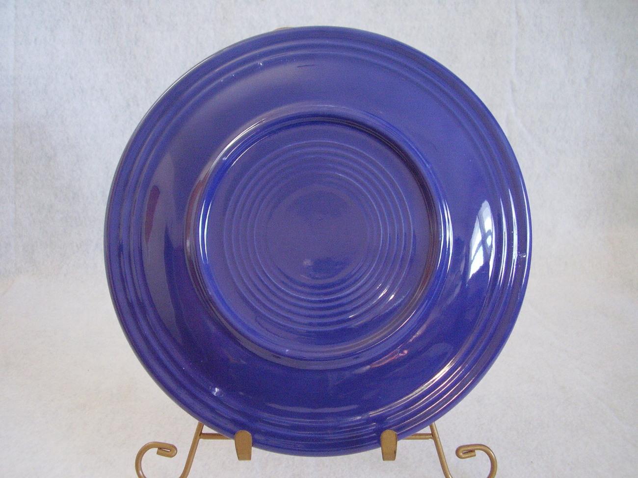Vintage Fiestaware Cobalt Lunch Plate Fiesta  F