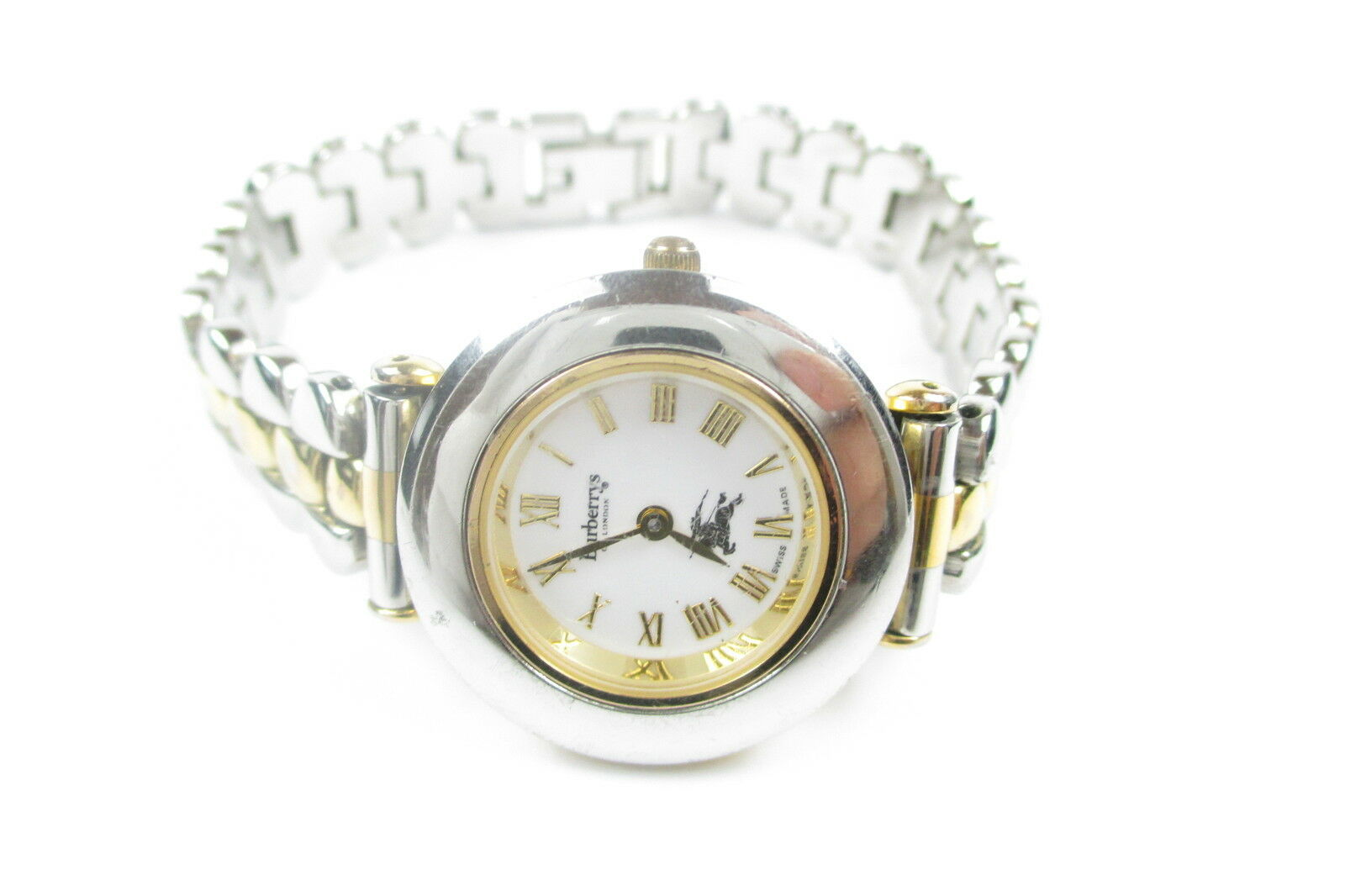 Auth Burberrys of London 9100L  White Dial, Stainless Steel Quartz Ladies Watch