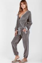Young Fabulous Broke X-Small Jumpsuit Velour Tan Velvet Fila $158 NWT - $74.24