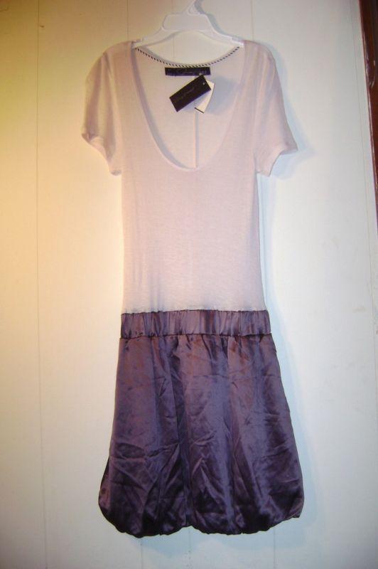 """Patterson J. Kincaid"" mauve/wine balloon dress Size M."