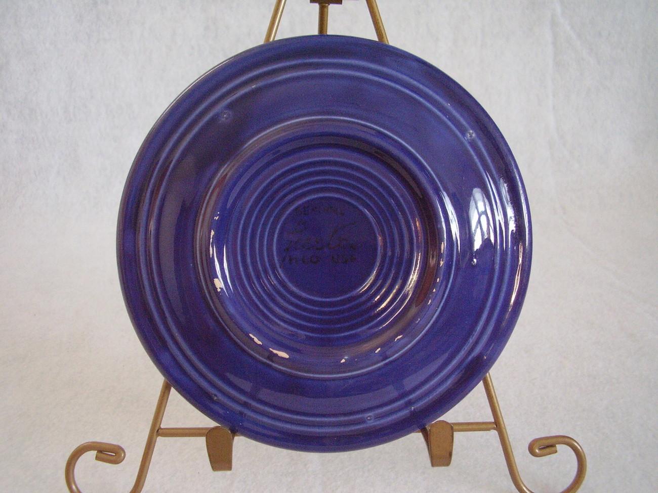 Vintage Fiestaware Cobalt Bread Butter Plate Fiesta  A