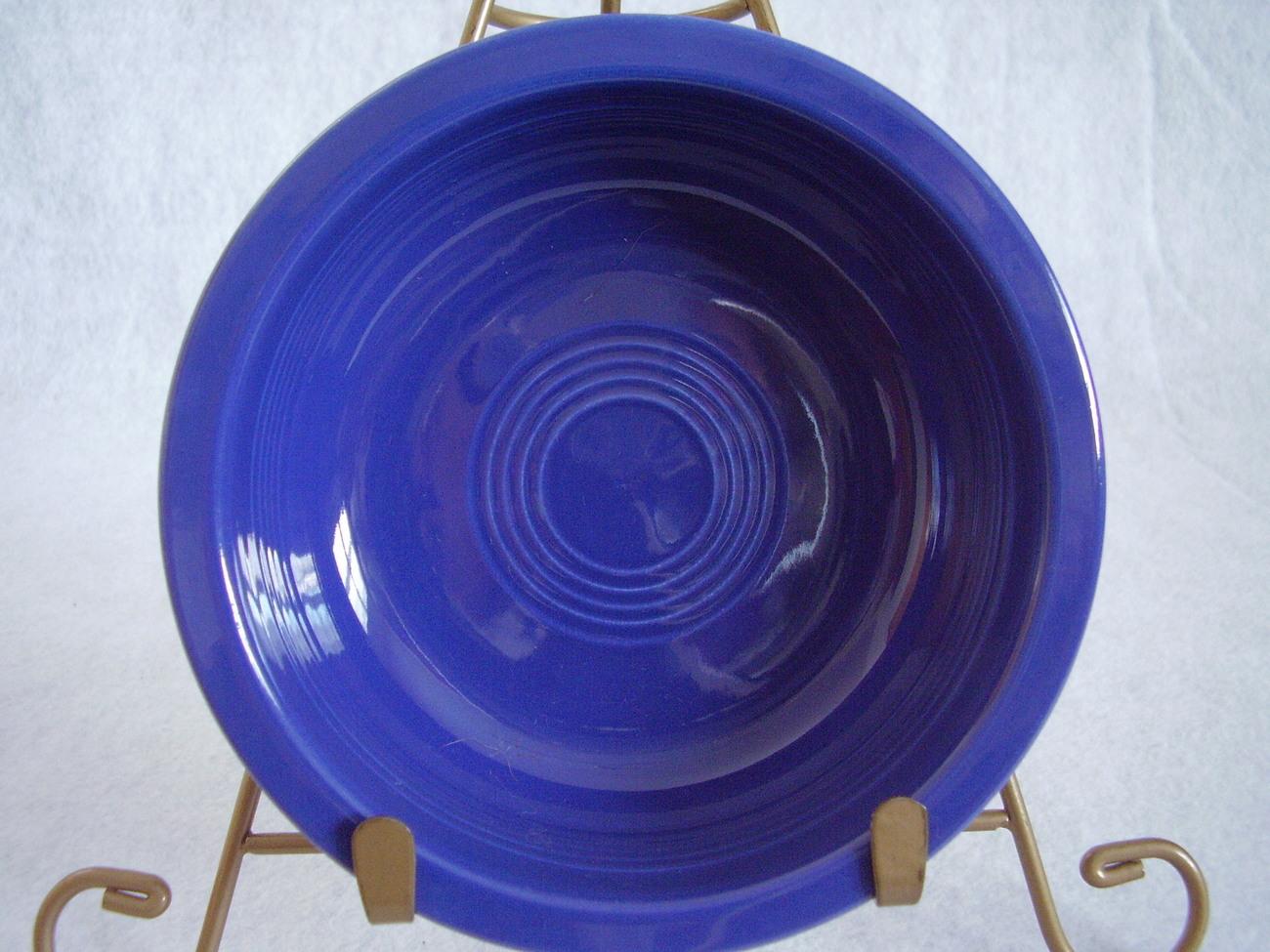 Vintage Fiestaware Cobalt Fruit Bowl Fiesta   Z