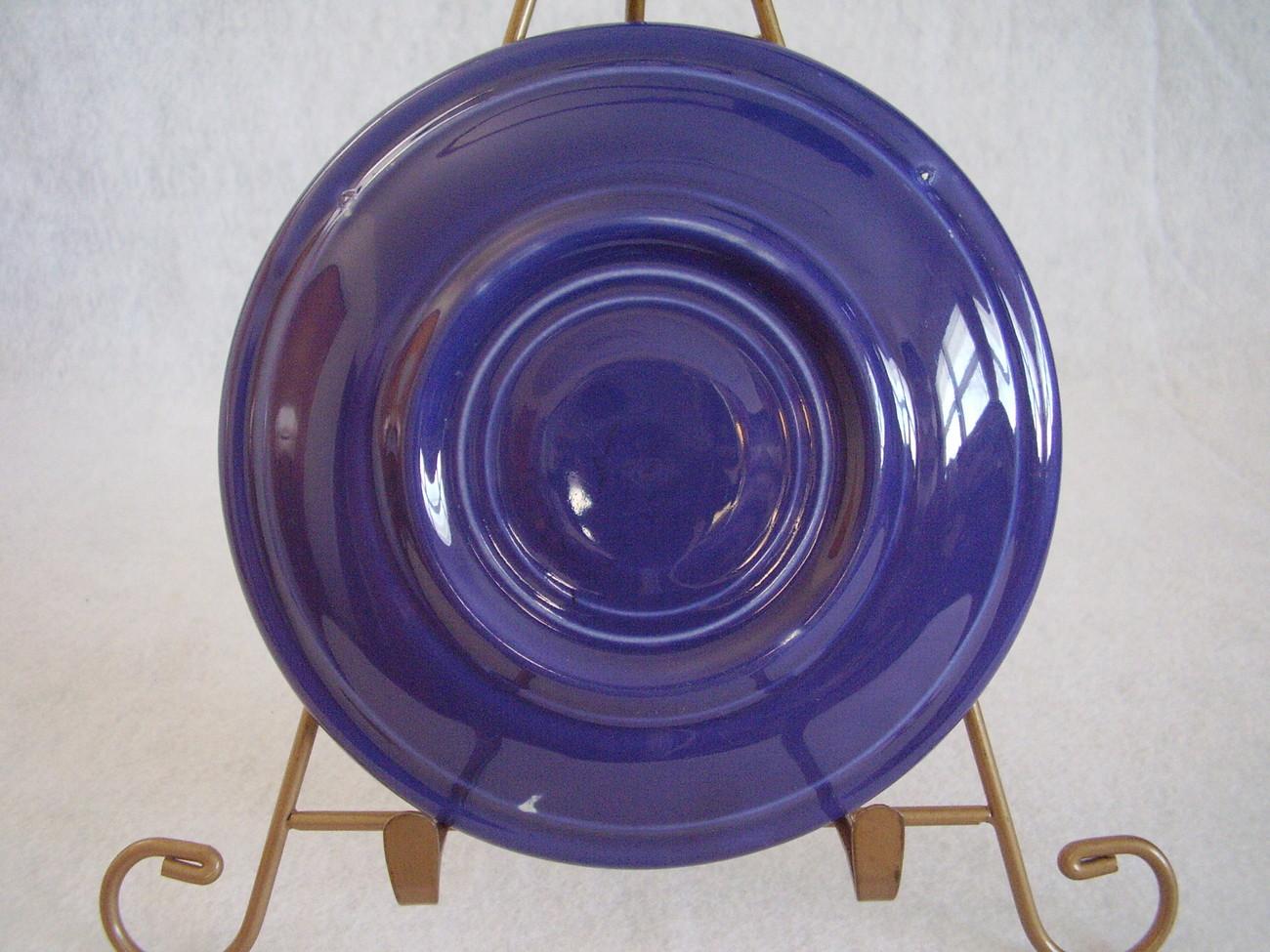 Vintage Fiestaware Cobalt Teacup Saucer Fiesta  L