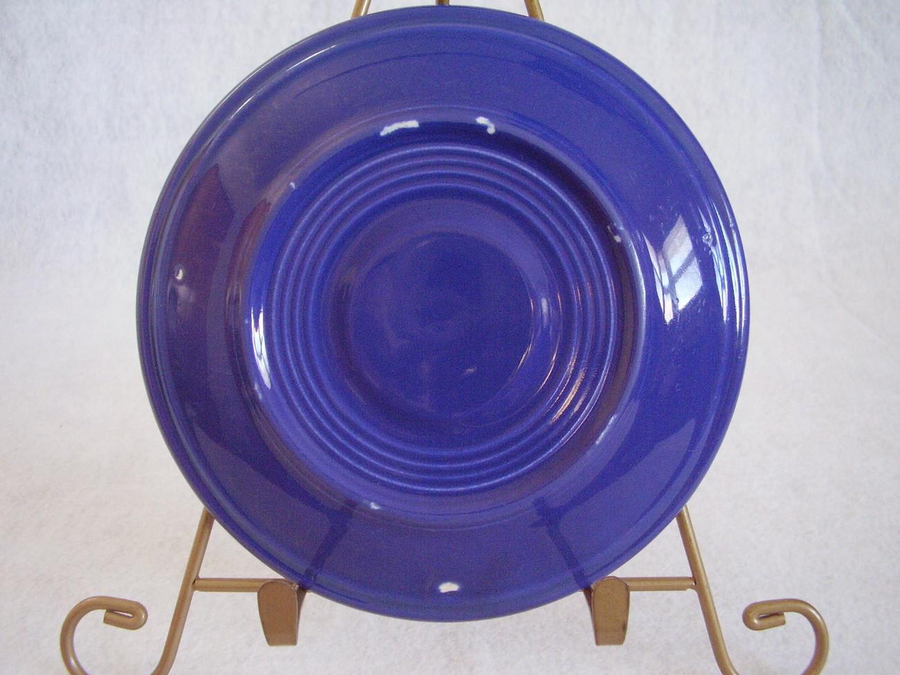 Vintage Fiestaware Cobalt Teacup Saucer Fiesta  K