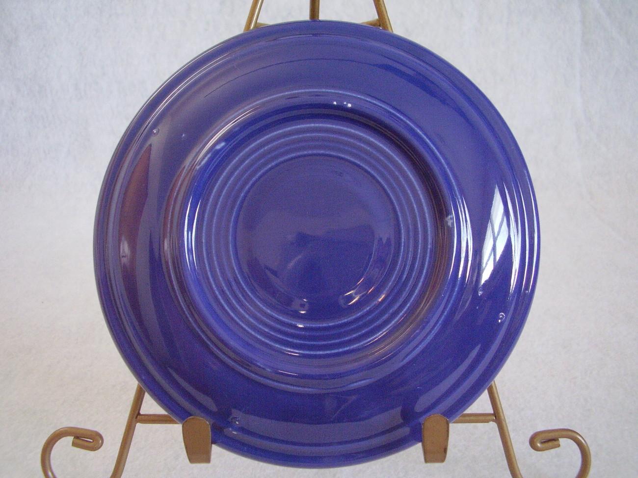 Vintage Fiestaware Cobalt Teacup Saucer Fiesta  J