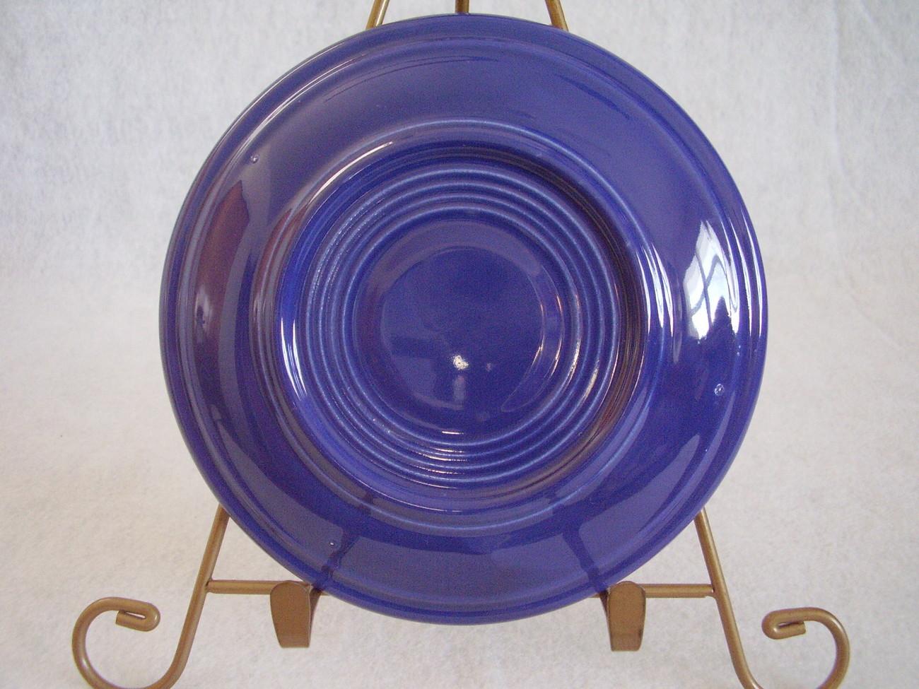 Vintage Fiestaware Cobalt Teacup Saucer Fiesta  H