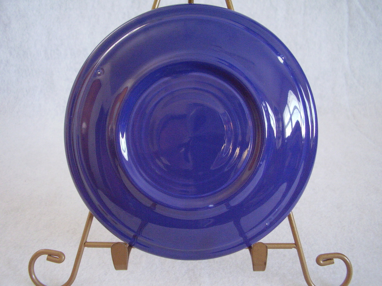 Vintage Fiestaware Cobalt Teacup Saucer Fiesta  G
