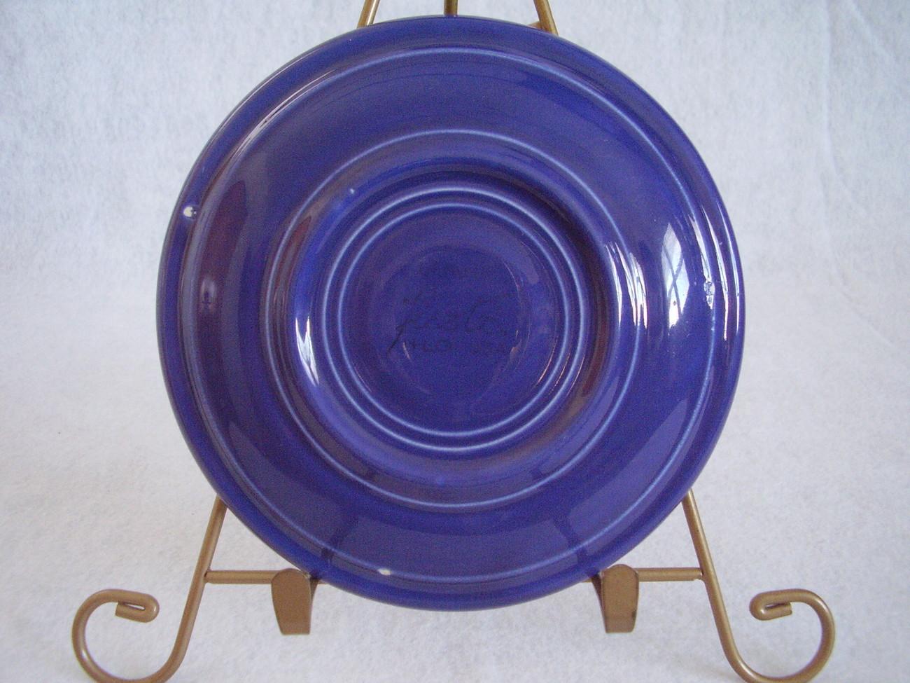 Vintage Fiestaware Cobalt Teacup Saucer Fiesta  E