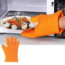 Kitchen Silicone Gloves Resistant Oven Heat Holder Bbq Pot Mitt Cooking ... - $8.90