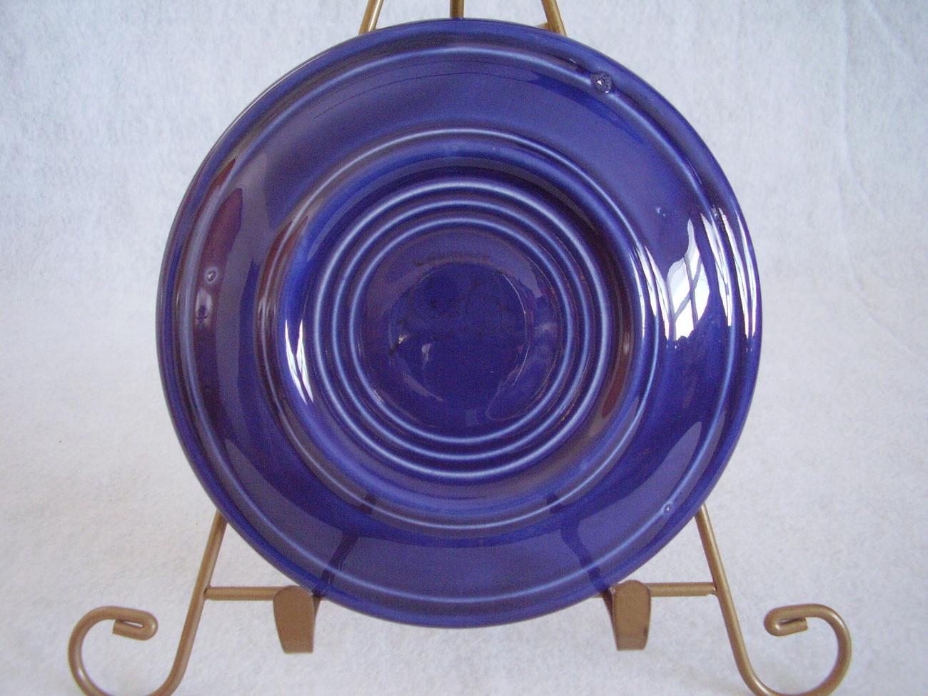 Vintage Fiestaware Cobalt Teacup Saucer Fiesta  C