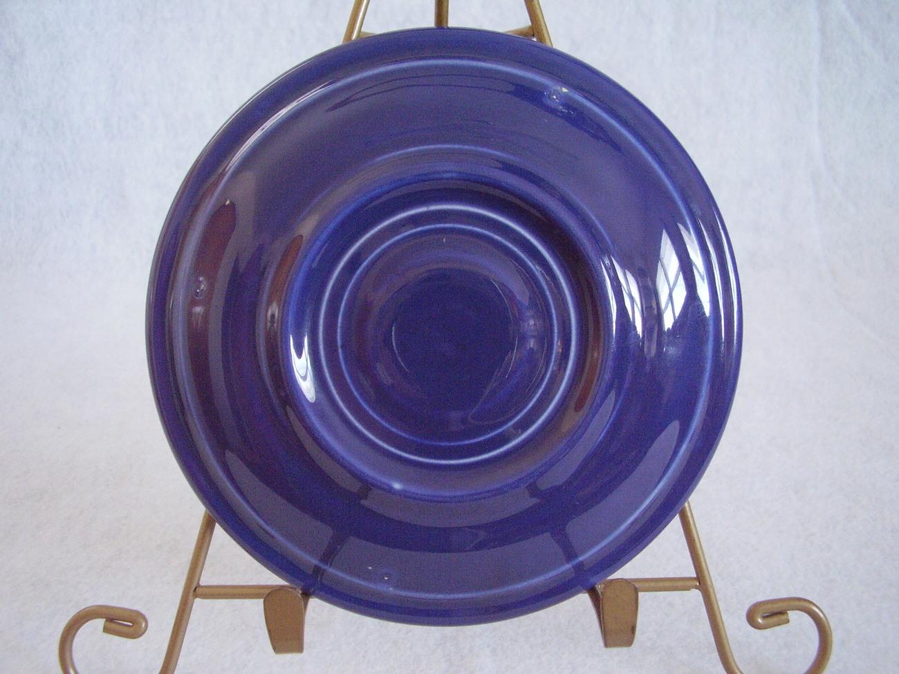 Vintage Fiestaware Cobalt Teacup Saucer Fiesta  B