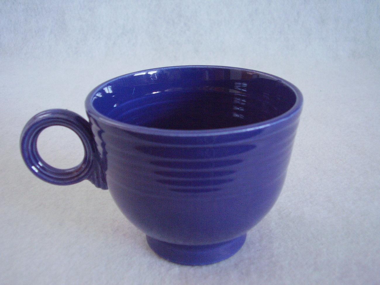 Vintage Fiestaware Cobalt Ring Handle Teacup Fiesta F