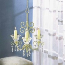 Chandelier Distressed Ivory Shabby Candleholder Wedding Party Hanging Decor - $24.70