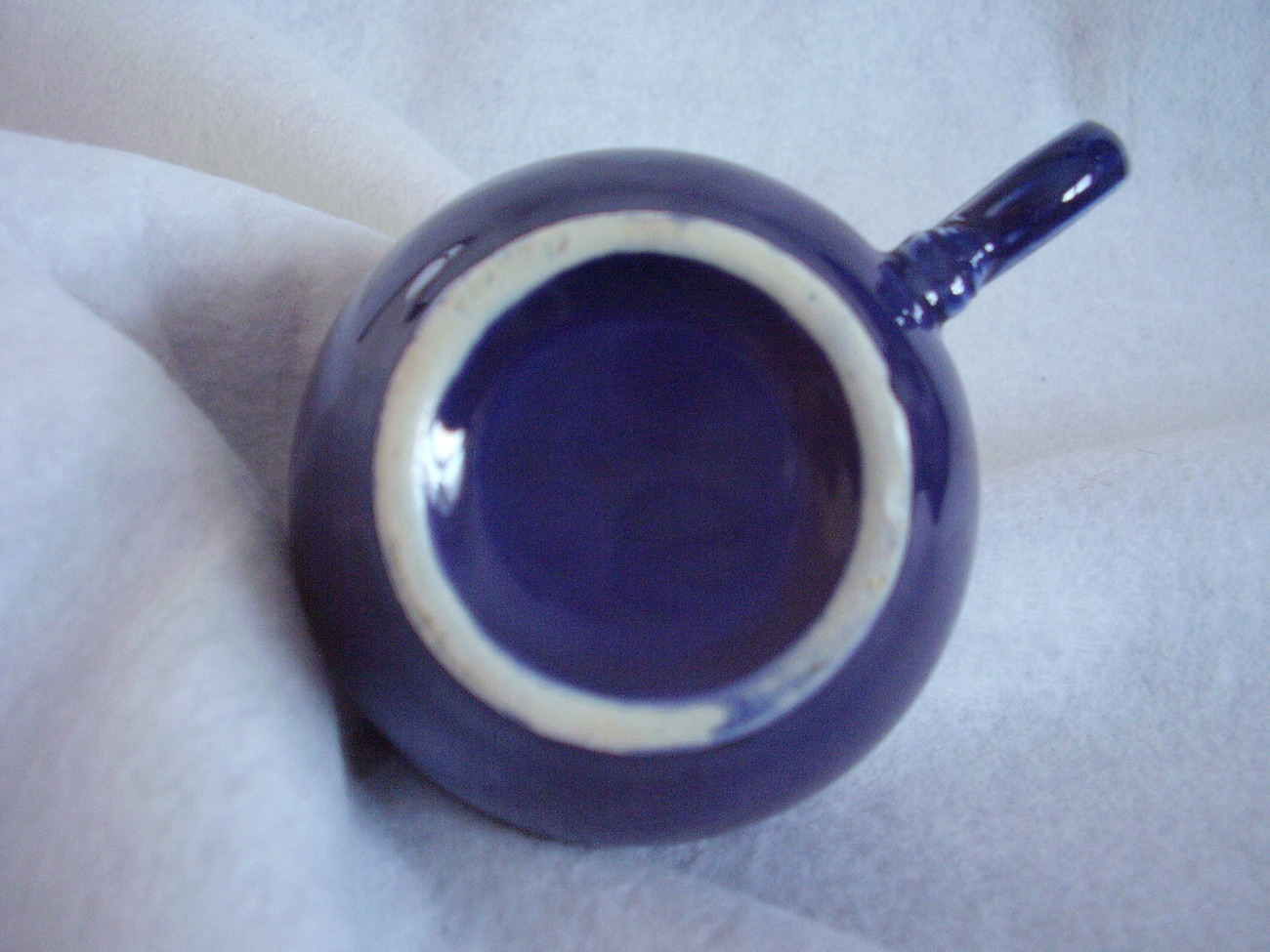 Vintage Fiestaware Cobalt Ring Handle Teacup Fiesta D