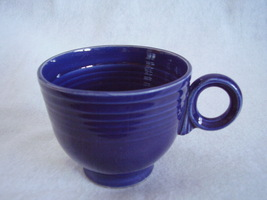 Vintage Fiestaware Cobalt Ring Handle Teacup Fiesta C - $17.82