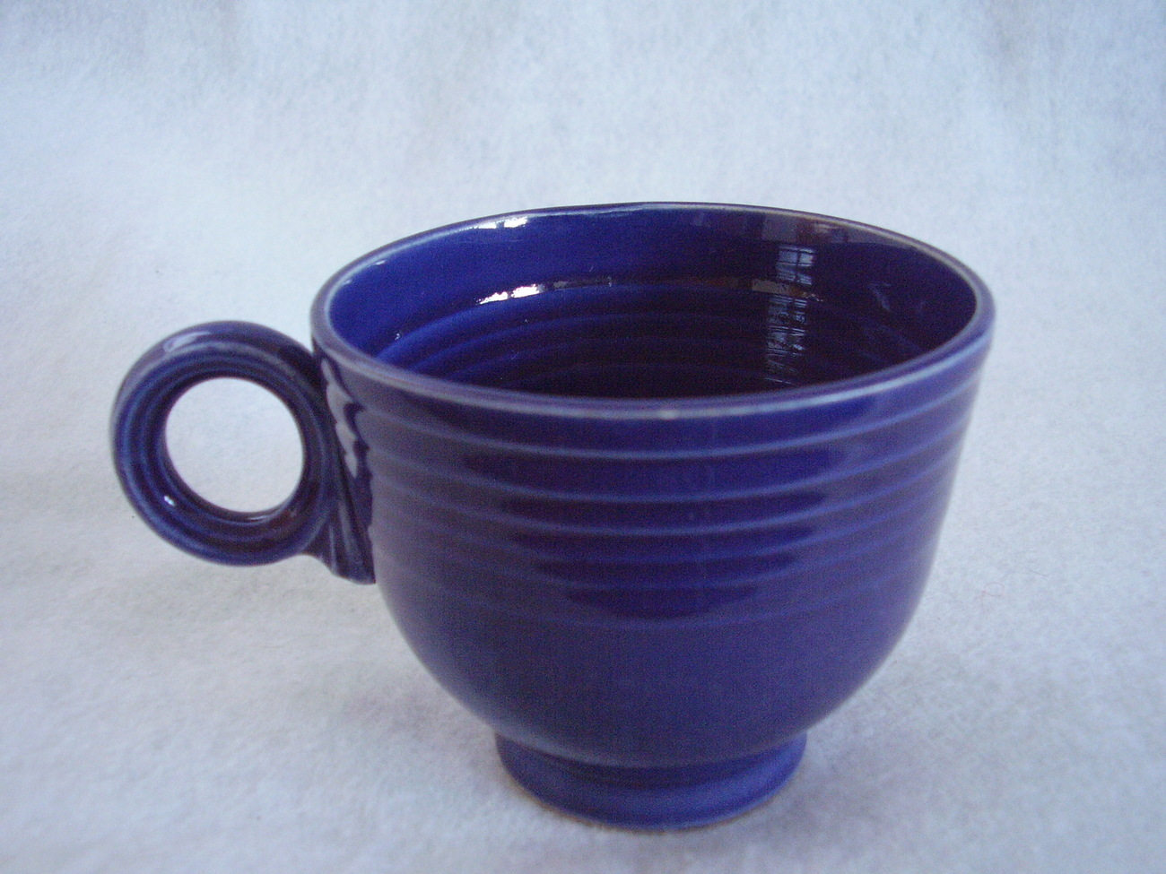 Vintage Fiestaware Cobalt Ring Handle Teacup Fiesta C